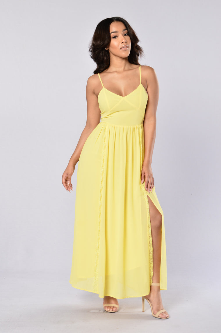 Sassy Maxi Dress - Yellow
