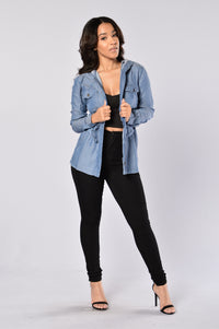 Soft Embrace Jacket - Blue Angle 2