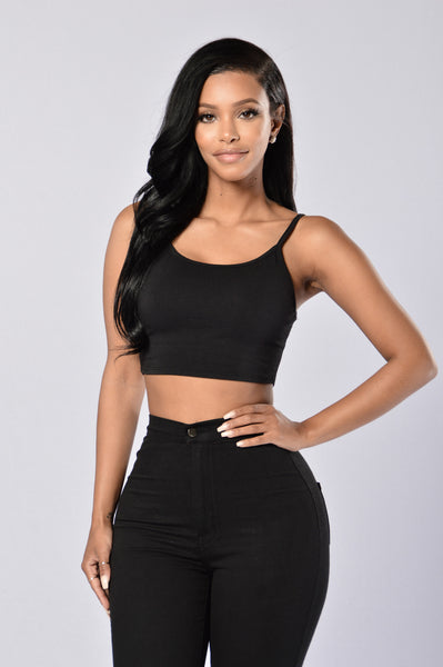 Your Go To Crop Top - Black