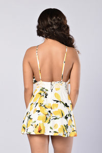 Lemon Drop Romper - Yellow