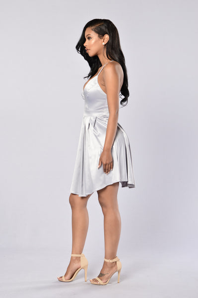 Bedroom Eyes Dress - Light Grey