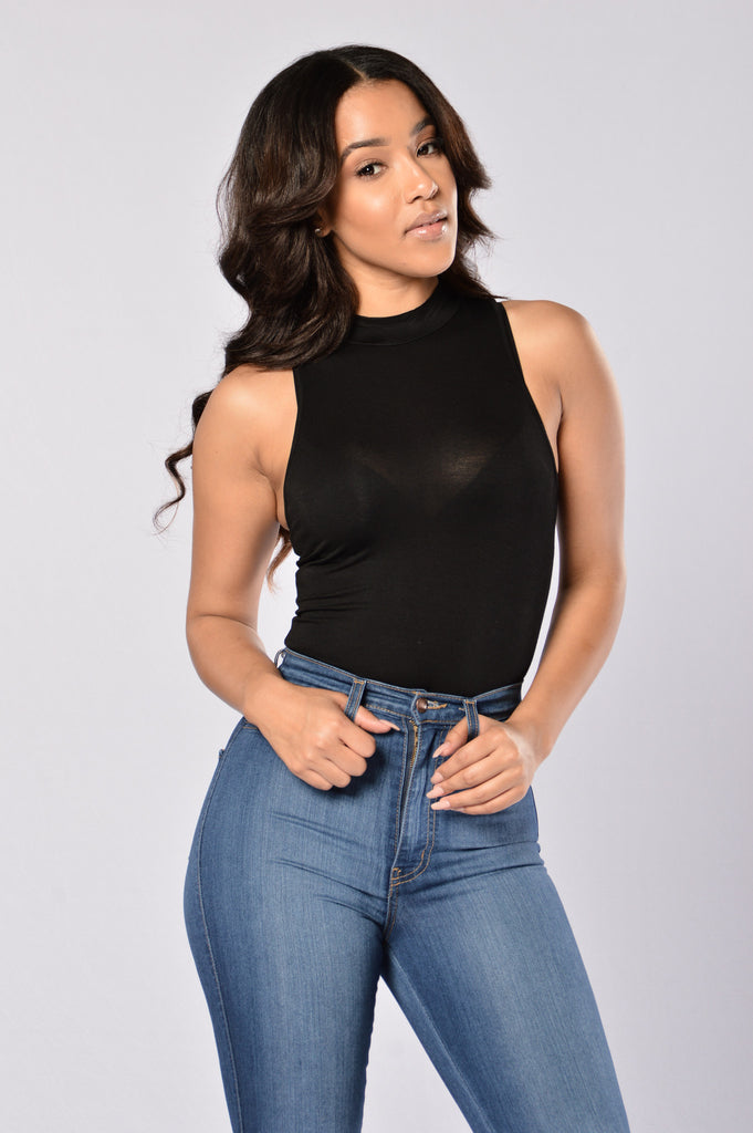 Straightforward Bodysuit - Black