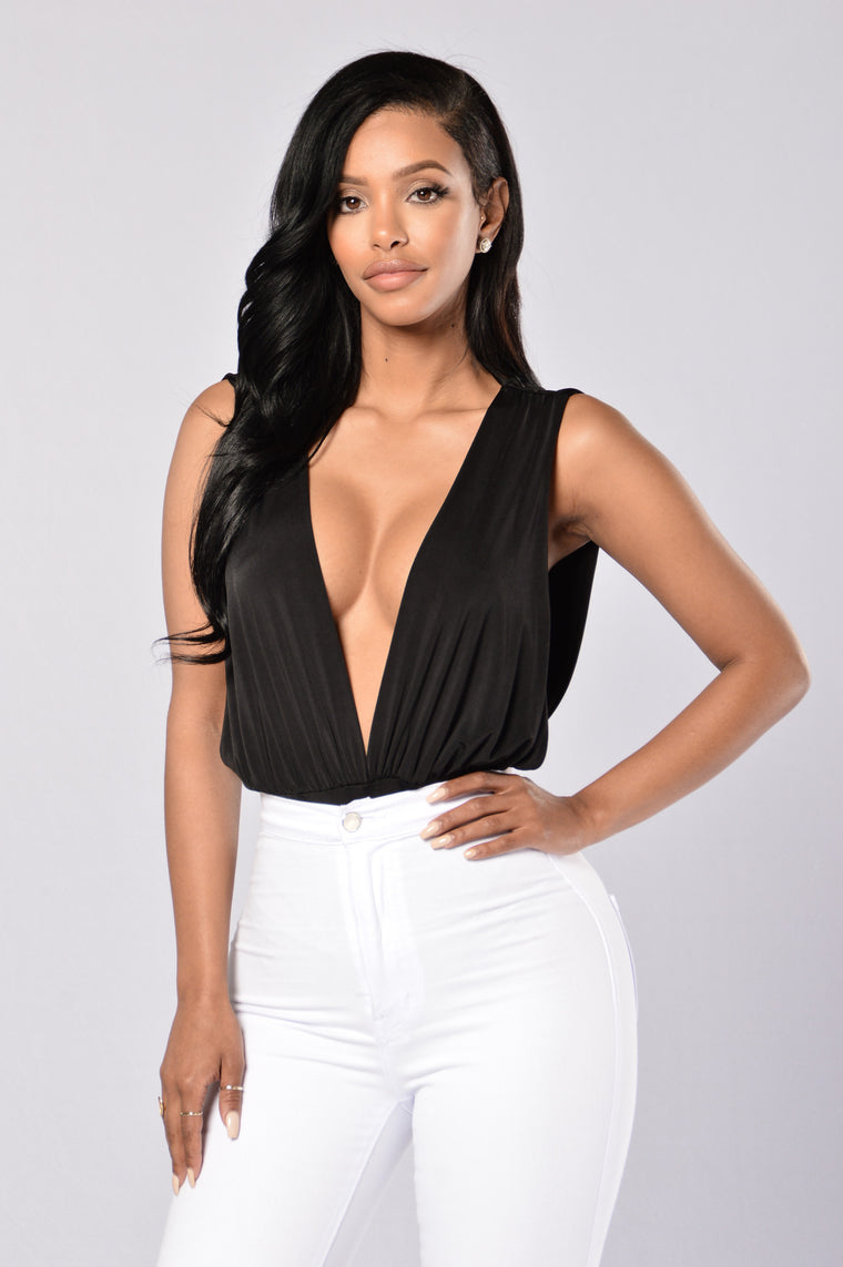 Danger Zone Bodysuit - Black
