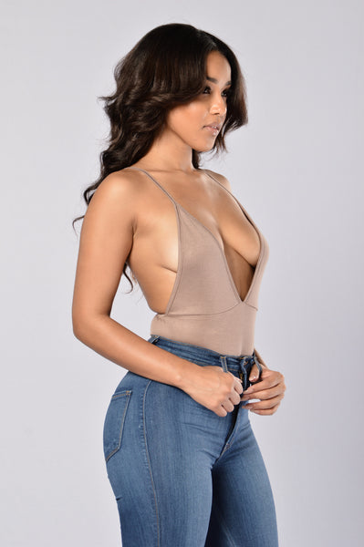 Girl's Night Out Bodysuit - Mocha