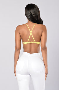 Paint The Town Bralette - Yellow