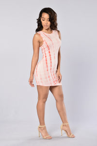 Spontaneous Combustion Dress - Coral Angle 3