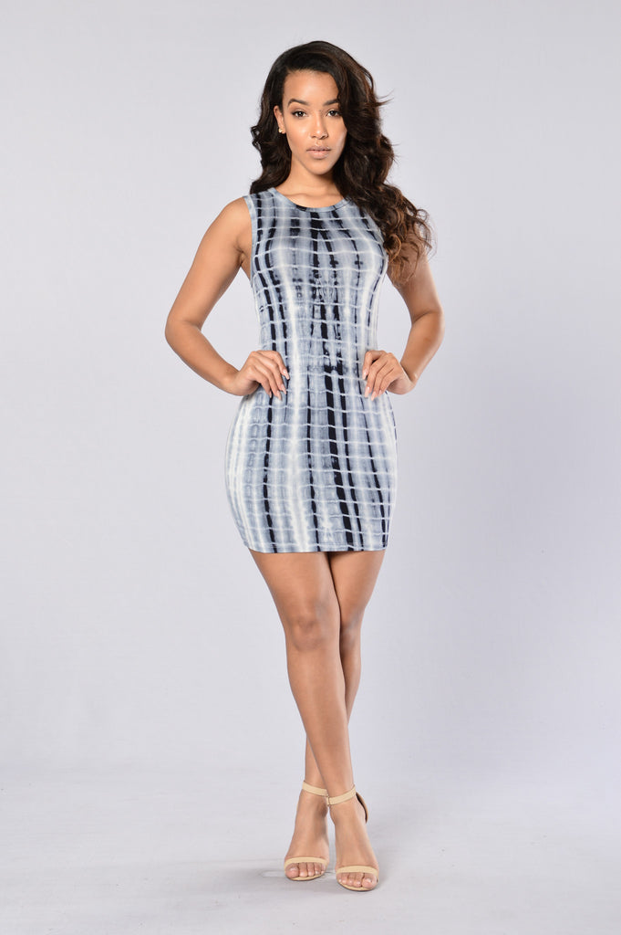 Spontaneous Combustion Dress - Navy