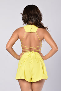 Life's A Beach Romper - Pineapple