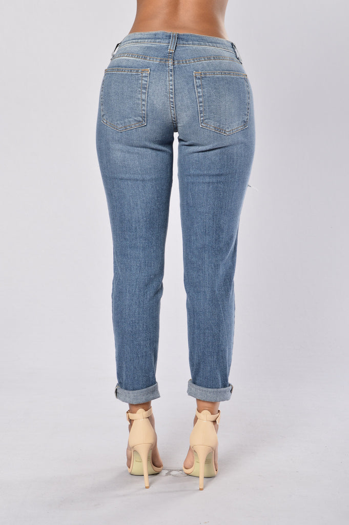 Pacific Beach Boyfriend Jeans - Medium