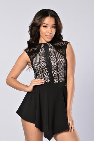 Pretty Please Romper - Black
