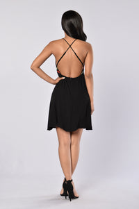 Summer Time Fun Dress - Black