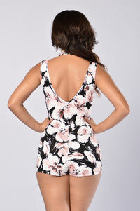 Truth Or Dare Romper - Black Floral
