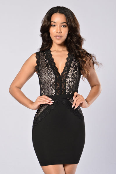 Hopeless Romantic Dress - Black