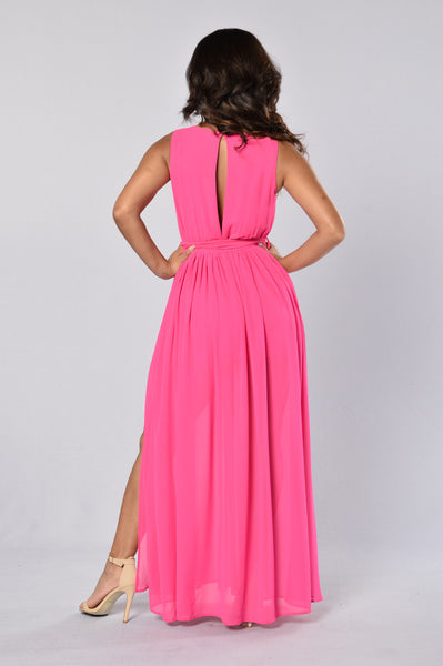 Jalena Dress - Hot Pink
