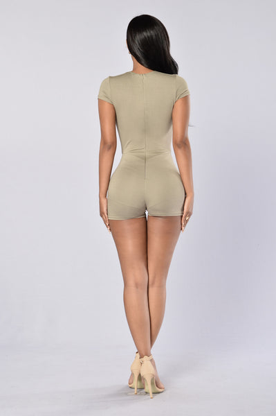 Lost in Space Romper - Light Olive