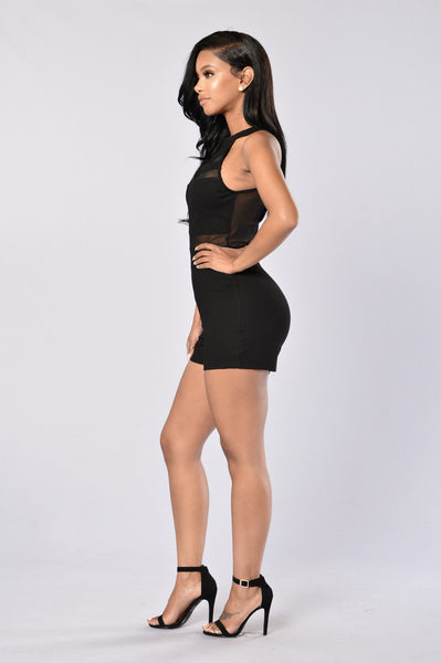 Glimpse Romper - Black