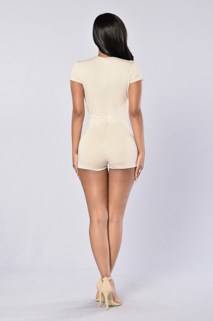 Lost in Space Romper - Taupe