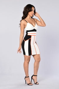 Sugar And Spice Dress - Ivory/Black