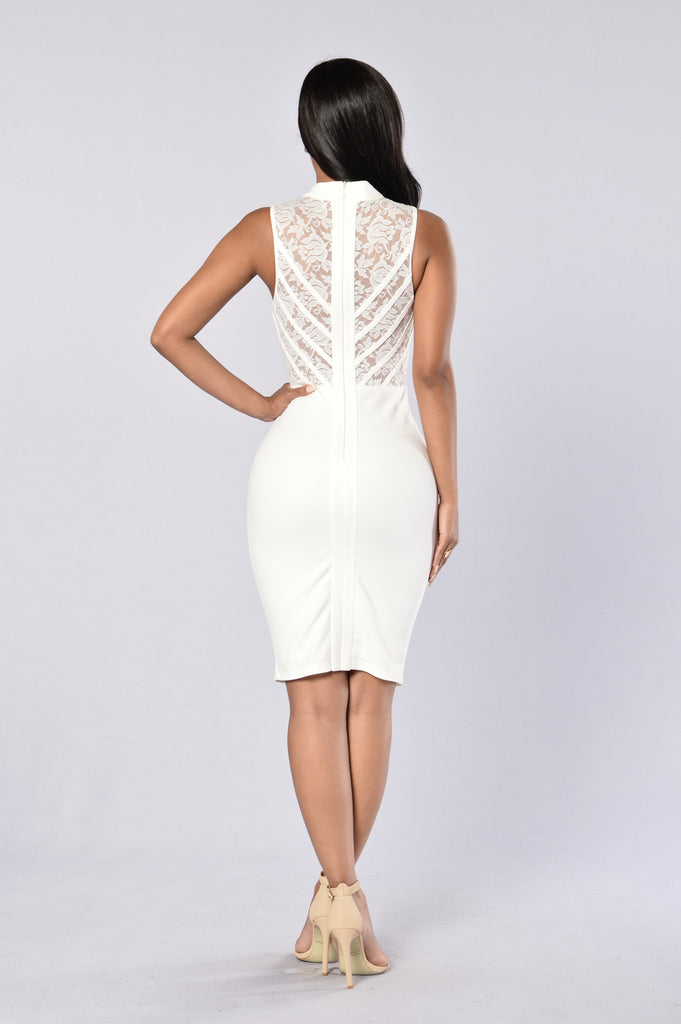 No Boundaries Dress - White