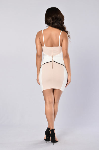 Sugar And Spice Dress - Blush/Ivory