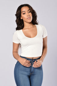 Double Trouble Tee - Ivory