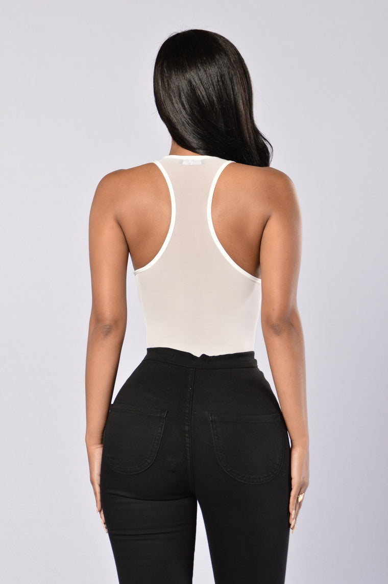 Private Viewing Bodysuit - Ivory