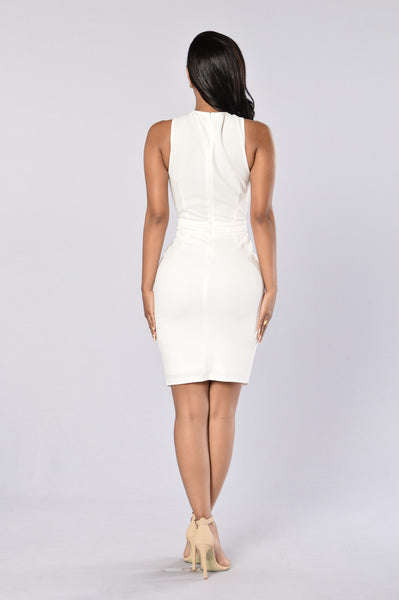 Metallic Love Dress - Ivory