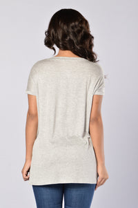 Day in Day Out Tee - Heather Grey Angle 2
