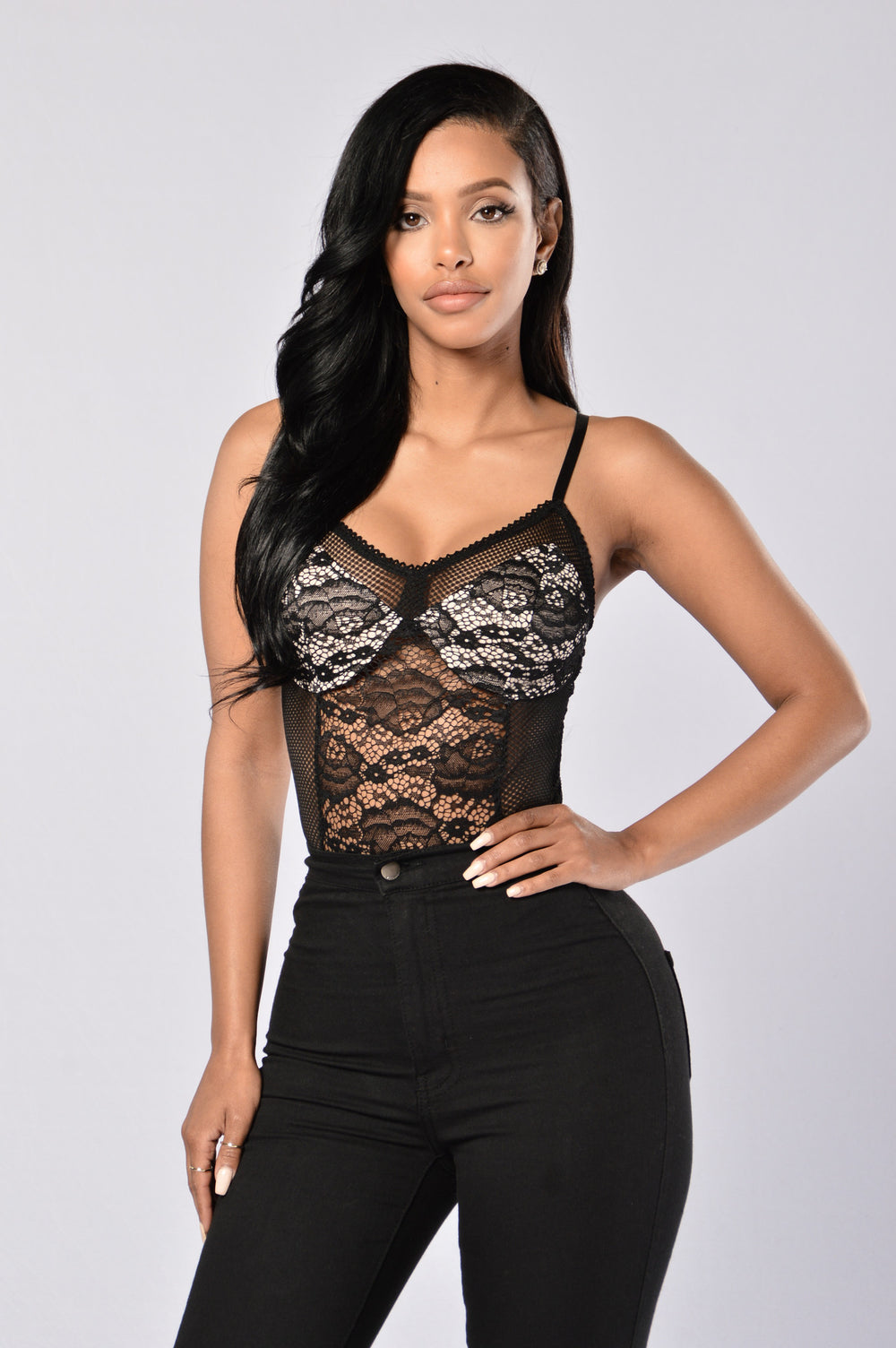 Caliente Bodysuit - Black