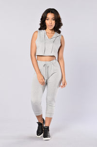 Fun On The Run Top - Heather Grey