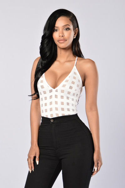 Fresh Off the Block Bodysuit - White