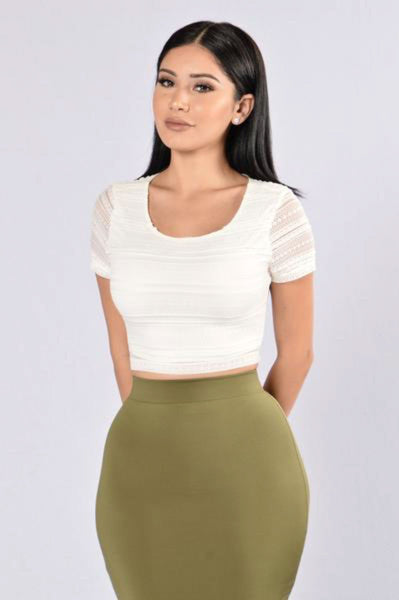 Play Fair Crop Top - White