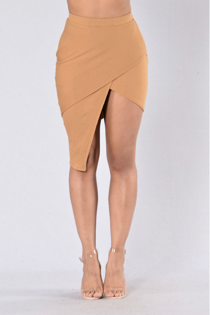 The Boy is Mine Skirt - Camel