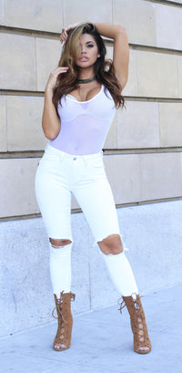 Spotlight Bodysuit - White