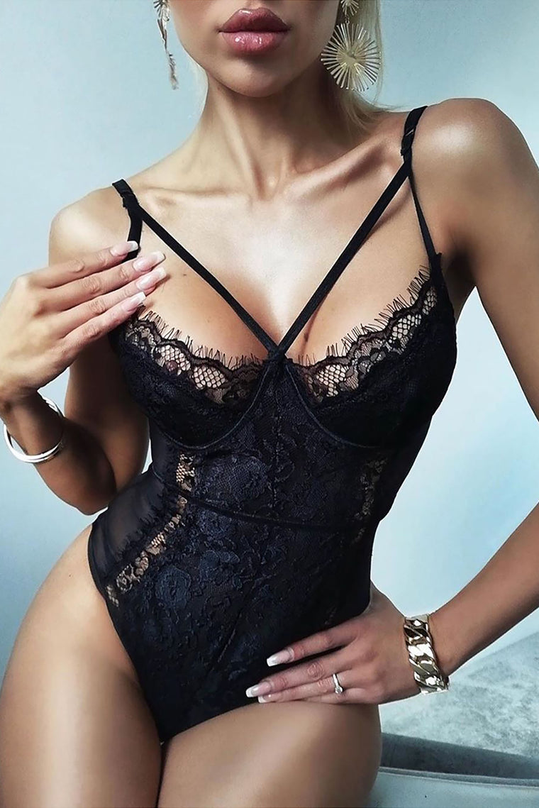 Somebody To Love Lace Teddy - Black