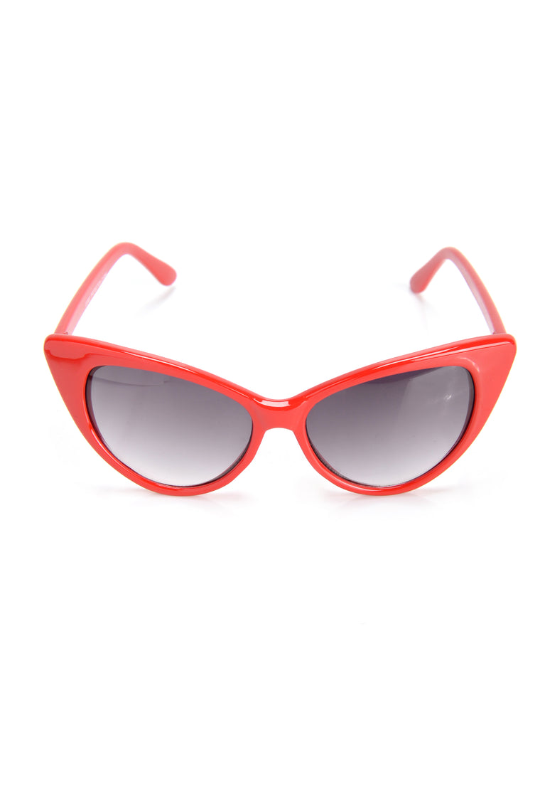 Kitty Cat Call Sunglasses - Red