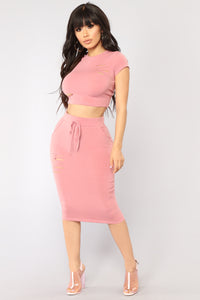 Casual Lover Skirt - Mauve Angle 2