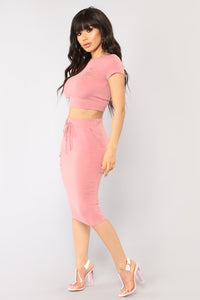 Casual Lover Skirt - Mauve Angle 4