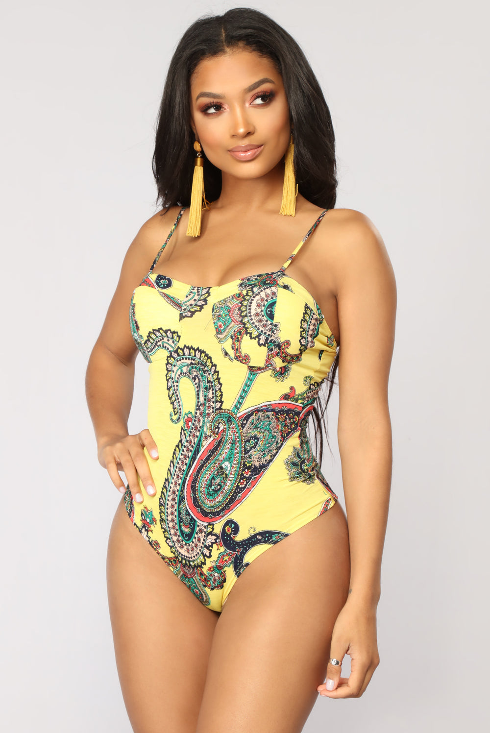 Jaelynn Bodysuit - Yellow