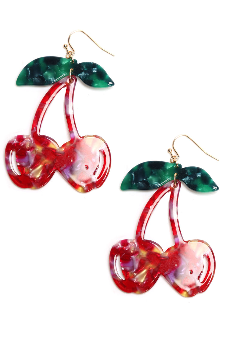 Taste Of Cherry Earrings - MultiColor