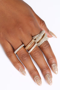 The Ultimate Plot Twist Rings - Gold