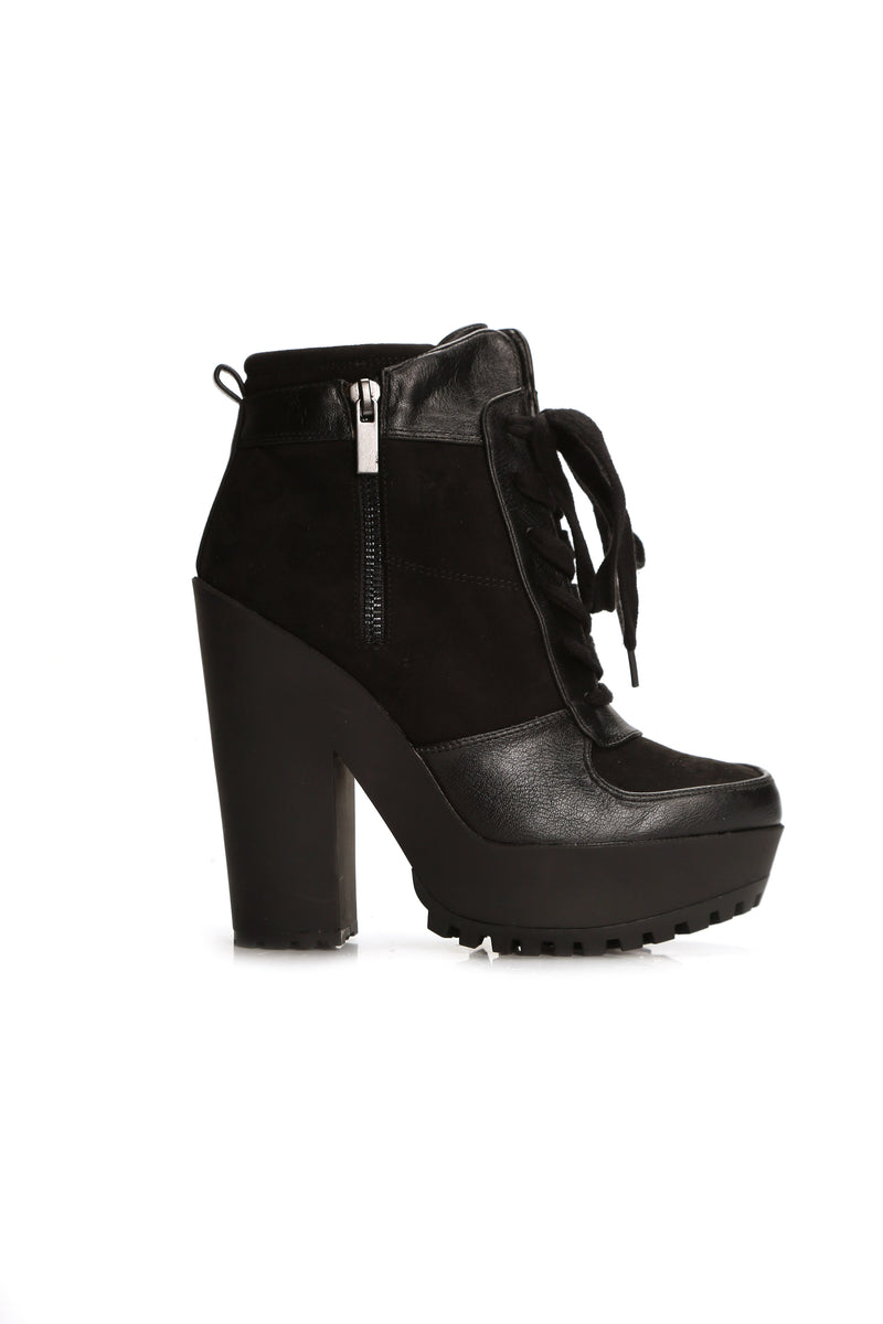 She Wildin Platform Bootie - Black