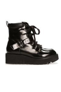 Patent Please Platform Bootie - Black