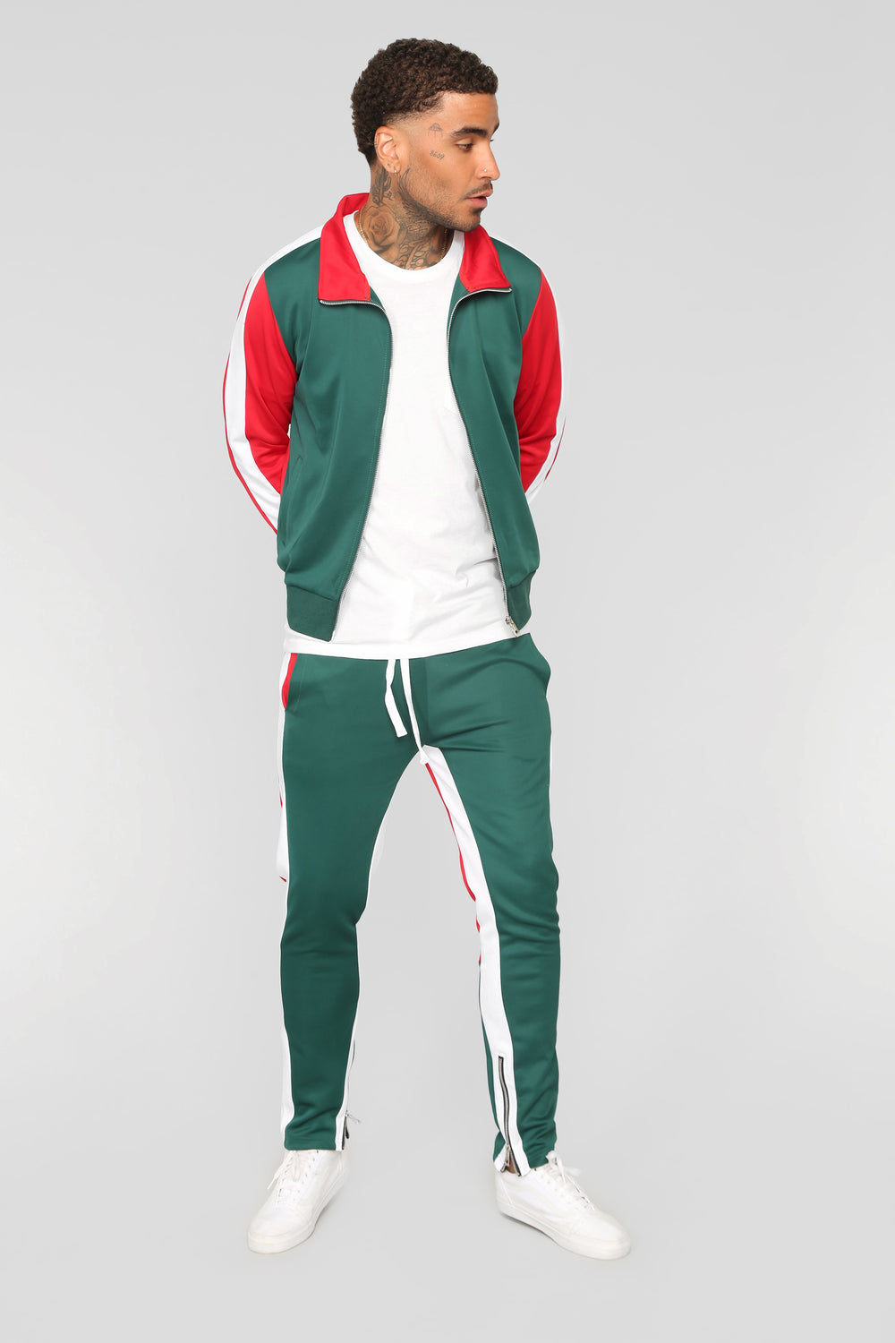 Bobby Track Pant - Green/Combo