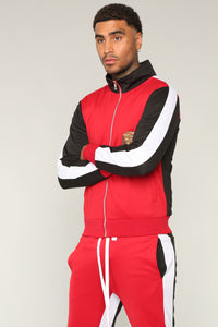 Bobby Track Jacket - Red/Combo