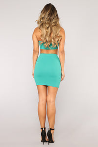 Sierra Ruffle Set - Emerald