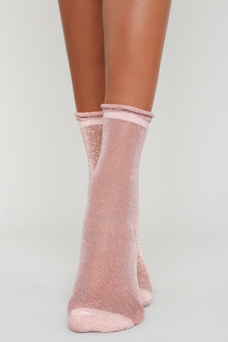 Sparkle In The Dark Socks - Pink
