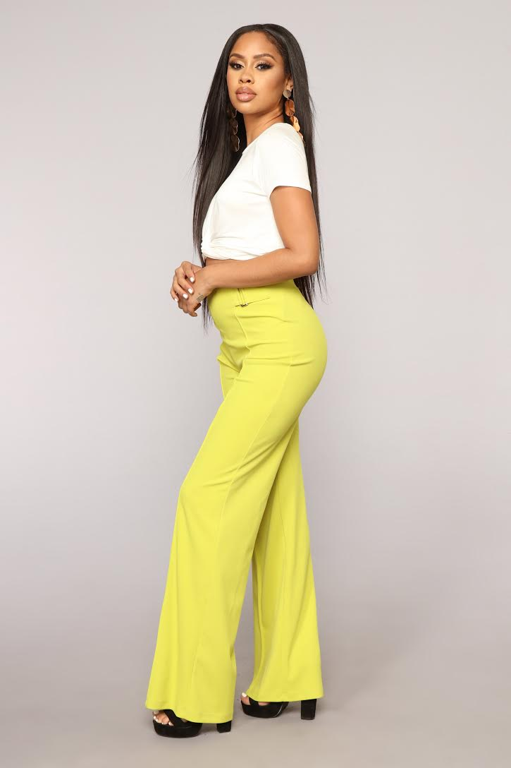 Tori High Rise Pants - Dark Yellow