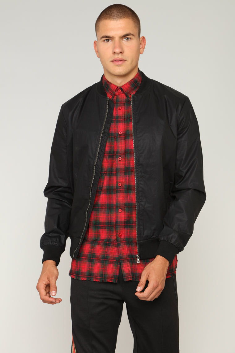 Brad Bomber Jacket - Black