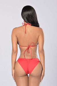 By The Pool Chain Bikini - Red